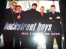 The Backstreet Boys All I Have To Give Australian CD Single – Like New