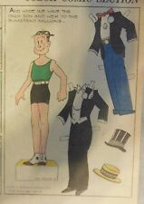 Blondie Sunday by Chic Young from 6/11/1933 Rare Paper Doll Full Page Size !