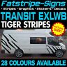 FORD TRANSIT EXLWB TIGER STRIPES GRAPHICS STICKERS DECALS ST CAMPER JUMBO XLWB