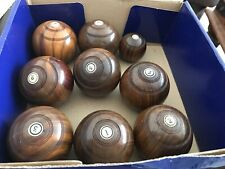 Vintage Treen Wooden Boulles & Jack
