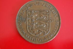 1931 KING GEORGE V ONE TWELTH OF A SHILLING (1d) BRONZE JERSEY COIN