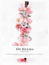 Publicité Advertising 018  2011  De Beers joaillier bagues  diamant