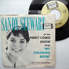 SANDY STEWART My coloring book RARE picture sleeve 45 I Heard you cried e6594