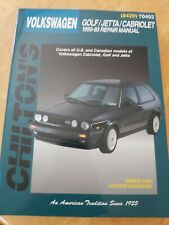 1990-1993 VOLKSWAGEN GOLF JETTA CABRIOLET CHILTON REPAIR MANUAL NEW OLD STOCK
