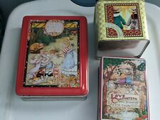 "3 Vintage Mary Engelbreit Tins ""Do Unto Others""/Love Comforteth/Ah How Good Guc"
