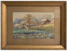 Dessin à l'aquarelle Japonaise par Eizo Kato