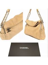 Auth Chanel Quilted Matelasse Tote Bag Caviar Leather