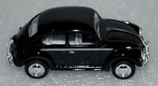 """1967 Small Diecast Scale Black Color 2.5"""" Miniature Volkswagen Classical Beetle"""