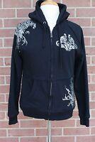 Women's YMI Jeans Embellished Jacket Hoodie Black Size M
