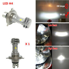 H4 LED Dual COB Motorcycle Headlight Bulb 1400Lm Lamp Scooter Moto DRL Light 18W