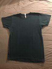 American Apparel Unisex Power Wash Crewneck T-Shirt Small Galaxy Blue