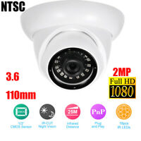 2MP IP Camera 1080P HD-MI NVR Home Security CCTV System Dome Camera Analog I6F0