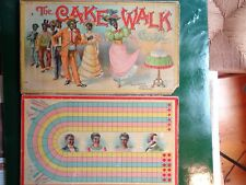 Circa 1900 Cake Walk Black Americana Parker Brothers Gameboard & Boxtop ONLY