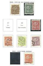 Macau 1942 - Padrões x 7 stamps used/MNG (2, 10 avos)