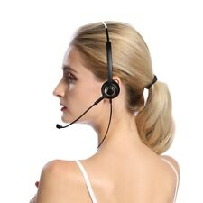 2.5mm Jack Call Center Headset Monaural Head-mounted Headset Stereo Audio Headph