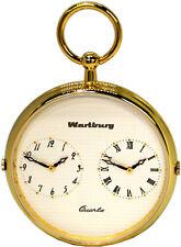 Wartburg 477 Dualtime Taschenuhr Herren Lepine Farbe gold weiß 47mm