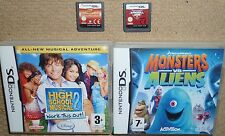 JOB LOT 4 x NINTENDO DS DSI GAMES Monster vs Alien Firefighter Tony Hawk Jam HSM