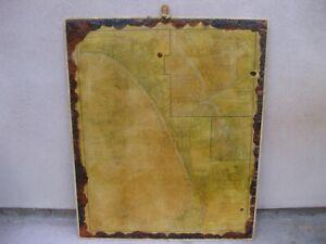 VTG SANTA MONICA BAY KING HARBOR REDONDO BEACH MAP NAUTICAL STYLE ROPE WOOD