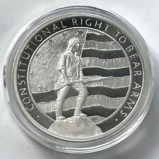 Silver 1 oz 999 2nd Second Amendment Musket Constitutional Right to Bear Arms