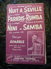Partitur Nacht Zum Seville Paradise Rumba Nini Samba Aimable Armand Tournel