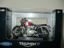 MOTO MINIATURE TRIUMPH BONNEVILLE T 100 1/18 WELLY