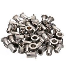 50pcs M6 Thread Stainless Steel Flat Head Rivet Nut Rivnut Insert Nutsert Tool