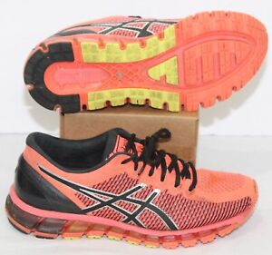 Asics Women's Gel-Quantum 360 CM T6G6N Flash Coral & Black Running Shoes Size 8