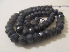 """7.75"""" Inch Faceted Sapphire Beads 3.9 to 4.6 mm  43 Cts       AS"""