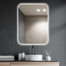 JC 24x36 Bathroom LED Vanity Mirror Dimmable Defogger Touch Sensor 3 Colors 3D