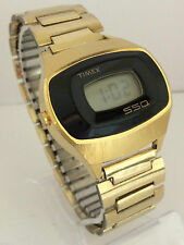 Timex Black Face SSQ  LCD LED Quartz Rare Vintage Watch Collectible