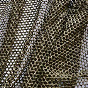 "Fishnet fabric - Khaki colour - 4 way stretch - Sport fabric - 60""wide"