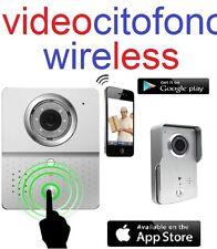 VIDEOCITOFONO CAMPANELLO WIFI WIRELESS CON TELECAMERA HD INTERNET DA TELEFONINO