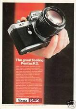 Publicité ancienne appareil photo Pentax JC2 1975 issue de magazine