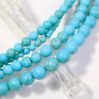 Size 4mm 6mm 8mm 10mm Turquoise Gemstone Round Loose Beads