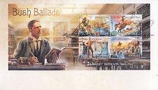 """2014 Bush Ballads AB """"""""Banjo"""""""" Paterson (Mini Sheet) FDC - Yass NSW 2582 PMK"""
