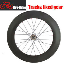 Track fixed gear single speed carbon Wheels 700C 88mm Clincher Carbon Rear Wheel