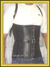 New Stylish Real Black Leather Men Corset