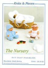 "BERENGUER 5"" 8"" 10"" BABY DOLL KNITTING PATTERN + MOSES BASKET By Sandra Polley"