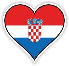 CROATIA HEART vinyl STICKER bumper decal GIFT LOVE FLAG BIKE MOTO LAPTOP TABLET