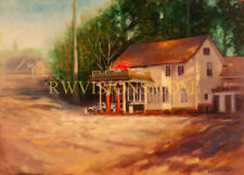 Highway 99 gas station, highest quality canvas LE print