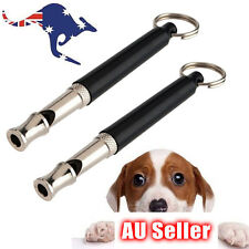 Pet Dog Training Silent Whistle Ultrasonic Supersonic Adjustable Pitch 80mm