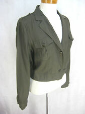 T by Bettina Liano Size 10 Crop Green Casual Jacket