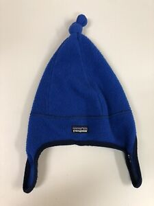 Patagonia Baby Beanie Made In USA Hat Blue Vintage Fall 2002