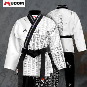 Hangul Wrap Uniform Taekwondo Open Dobok Korean Letters TKD Hapkido MMA Aikido