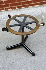 Antique Brass Surveying Transit Compass Measuring tool Cast Iron Legs Feet old