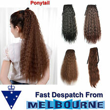 """20"""" Corn Curly Ponytail Clip In wrap around pony tail hair extensions"""