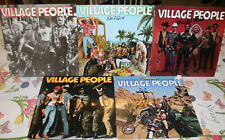 Village People lot (5) Disco vinyl records lps VG+