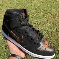 Nike Dunk High Pro SB Distressed Leather Black 305050-026 Red Mens Sz 11 (2015!)