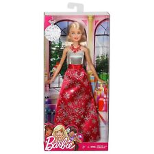 MATTEL BARBIE HOLIDAY SNOWFLAKE DRESS DOLL PLAYSET BLONDE EXCLUSIVE 3+