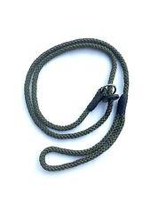 Spliced Rope Slip Lead In Green, 8mm Working Gun Dog, Field Trail, Agility